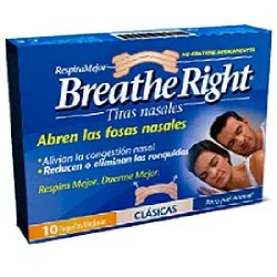 TIRAS NASALES 10 UDES GDE COLOR BREATHE RIGHT GLAXO