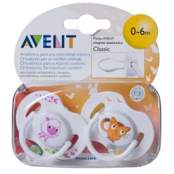 AVENT CHUPETES ANIMALES 0-6 MESES