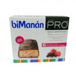 BIMANAN PRO BARRITAS CHOCOLATE FRESA 6 U