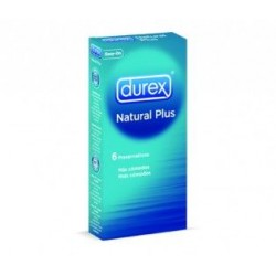 PRESERVATIVOS DUREX NATURAL PLUS 6 UNIDADES EASY ON