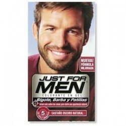 JUST FOR MEN BIGOTE BARBA CASTAÑO OSCURO 15 ML.