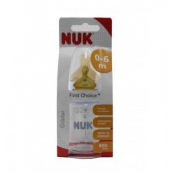 BIBERON NUK FC CRISTAL LATEX T1 120 ML