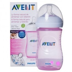 AVENT BIBERON PP NATURAL 260 ML 2 UNID