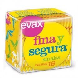 COMPRESAS EVAX FINA Y SEGURA NORMAL 16UD