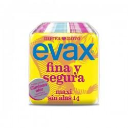 COMPRESAS EVAX FINA Y SEGURA MAXI 14 UND