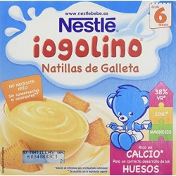 IOGOLINO NATILLAS CON GALLETA 4 100 GR