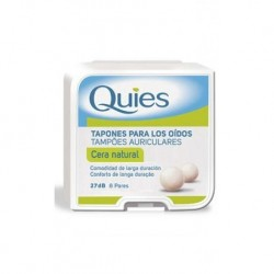 TAPONES OIDO QUIES CERA NATURAL 16 UDS.