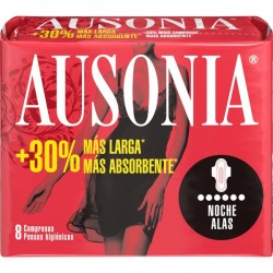 COMPRESAS AUSONIA AIR DRY ALAS NOCHE 10U