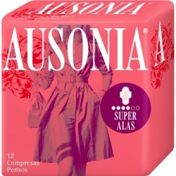 COMPRESAS AUSONIA AIR DRY ALAS SUPER 12