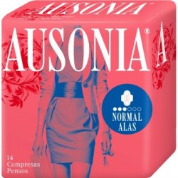 COMPRESAS AUSONIA AIR DRY ALAS NORMAL 14