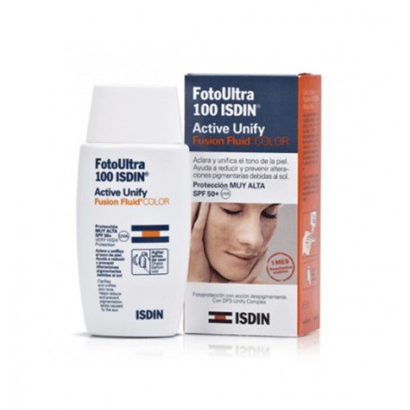 ISDIN FOTOPROTECTOR ULTRA SPF100 ACTIVE UNIFY SIN COLOR - 50 ML