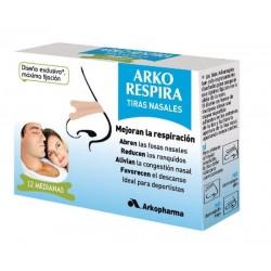 ARKORESPIRA TIRAS NASALES X 12 MODELO MEDIO