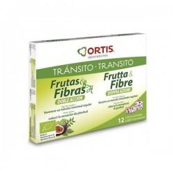 ORTIS FRUTA Y FIBRA DOBLE ACCION 12 UNID