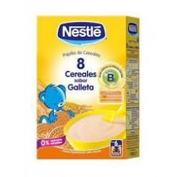 NESTLE PAPILLA 8 CEREALES SABOR GALLETA 600 G.