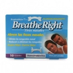 TIRAS NASALES 10 UDES GDE TRANSP BREATHE RIGHT GLAXO