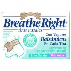 TIRAS NASALES 8 UDES GDE VICKS BREATHE RIGHT VAP GLAXO